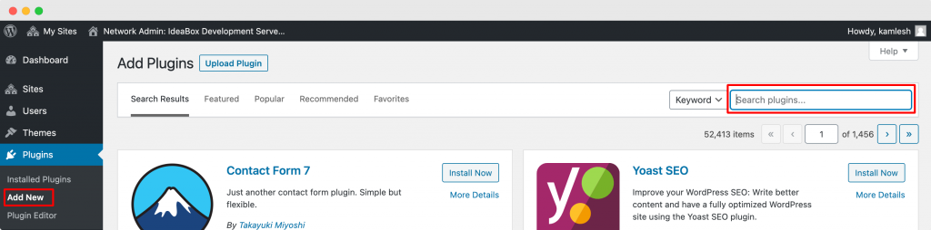Install Plugins from WordPress Dashboard
