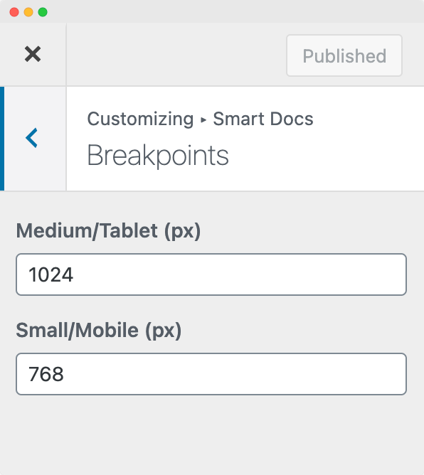 Enter Custom Breakpoints