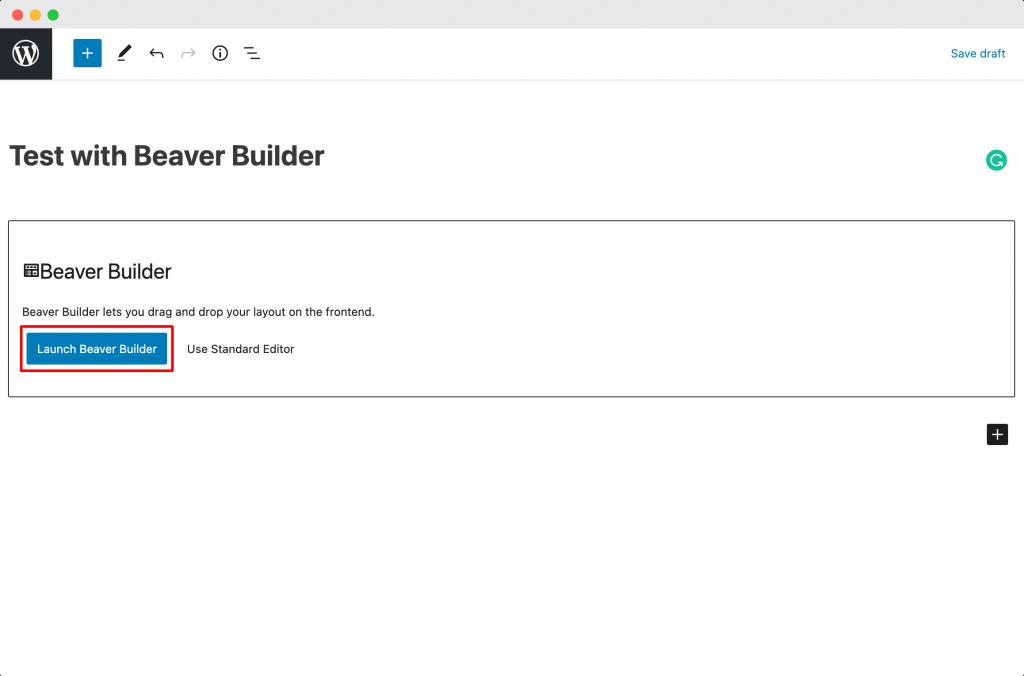 Launch Beaver Builder